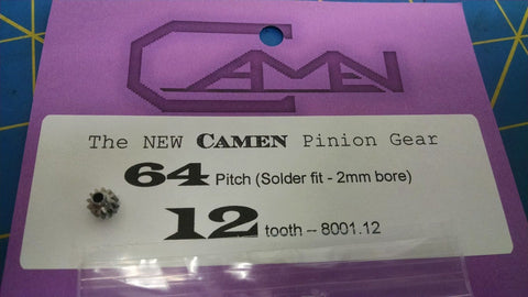 Camen 64pitch 12tooth solder fit-2mm bore Pinion Gear Mid-America Naperville