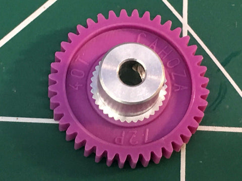 Cahoza 72 Pitch 40 Tooth 3/32 axle spur gear from Mid America Raceway