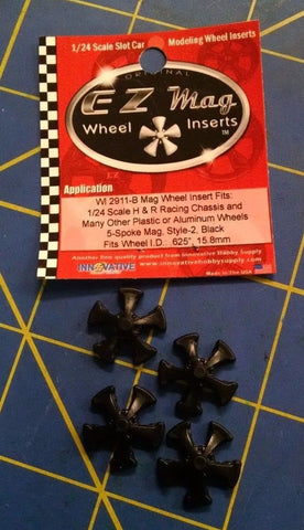 EZ Mag WI 2911-B 5-Spoke Mag Wheel Insert Style 2 1/24 Mid-America Naperville
