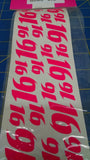 Kelly Racing Products Cup Style Flo Pink 16 Decals from Mid America Naperville