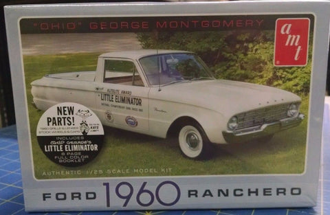 "AMT '60 Ford Ranchero ""Ohio"" George Montgomery 822/12 1/25 Model Kit Mid-America"