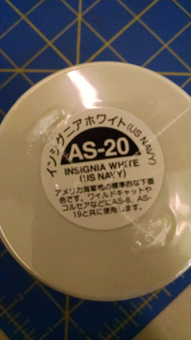 Tamiya AS-20 Insignia White (US Navy) Spray Paint Can 3oz 100ml-MidAmerNap