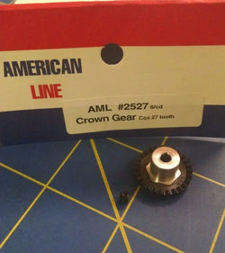 AML2527 Crown Gear 48p 27T Black 1/24 slot car from Mid America