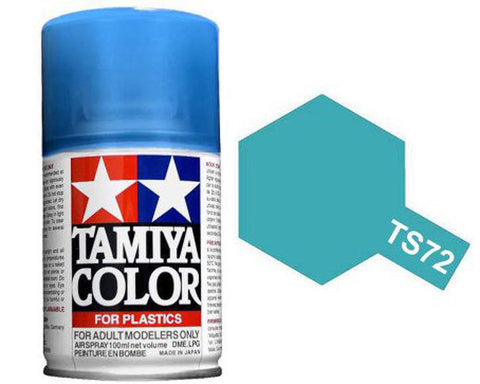 Tamiya TS-72 Clear Blue Spray Paint Can 3 oz 100ml 85072 Mid-America Naperville
