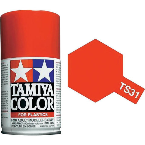 Tamiya TS-31 BRIGHT ORANGE Spray Paint Can 3 oz 100ml 85031 Naperville