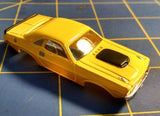 Yellow Dodge Challenger American Line T-Jet Repop Body HO From Mid America