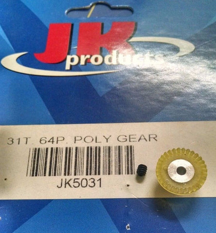 JK 5031 64P 31T Poly Gear Yellow 1/24 slot car from Mid America