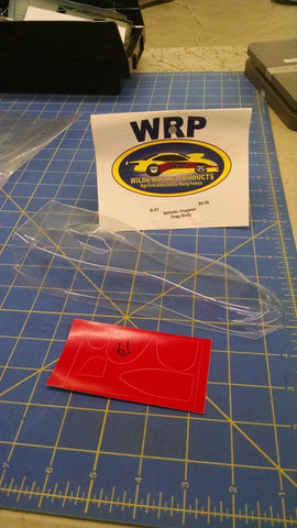 WRP B-61 Stilletto Dragster Lexan Drag Body Mid America Naperville