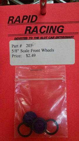 "Rapid Racing #203 Purple 5/8"" Scale Front Wheels from Naperville"