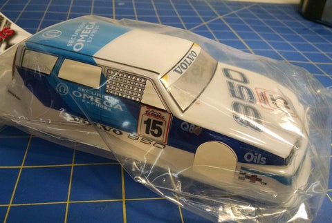 JK Custom Painted DTM Volvo Omega White 1/24 slot car body Mid America