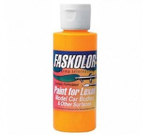Parma Faskolor FASFLUORESCENT FLAMING ORANGE #40304 Airbrush Paint Slot Car 1/24