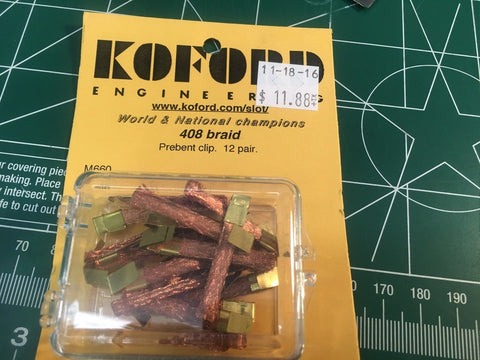 12 pair Koford M660 408 Braid 1/24 slot car from Mid America Raceway Naperville