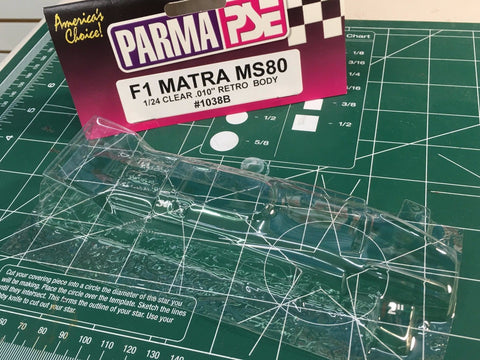 Retro Parma F1 MATRA MS80 IRRA legal Clear body 1/24 1038 Mid-America Naperville