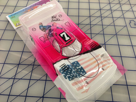 Porsche 917 LMP Painted #7 American flag slot car body 1/24