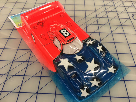 Porsche 917 LMP Painted #8 Stars slot car body 1/24