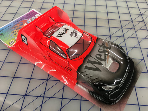 Mercedes AMG DTM Painted #9 West SLOT CAR BODY 1/24