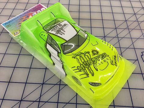 Mercedes AMG DTM Painted # Monster  SLOT CAR BODY 1/24