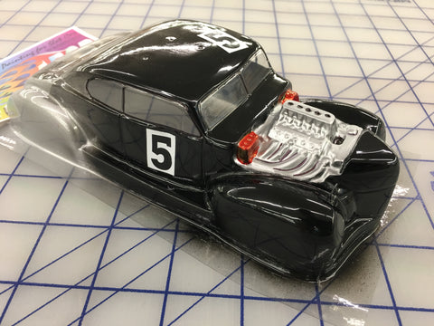 Classic Hot Rod Painted #5  SLOT CAR BODY 1/24