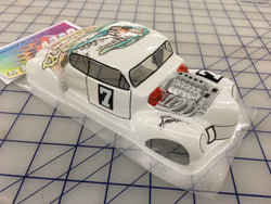 Classic Hot Rod Painted #7  SLOT CAR BODY 1/24