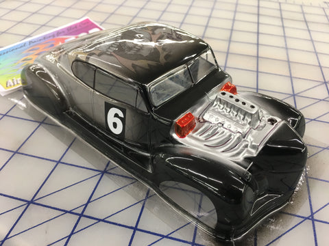 Classic Hot Rod Painted #6  SLOT CAR BODY 1/24