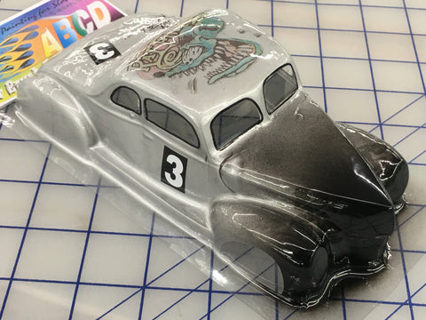 Classic 49 Ford Painted #3  SLOT CAR BODY 1/24