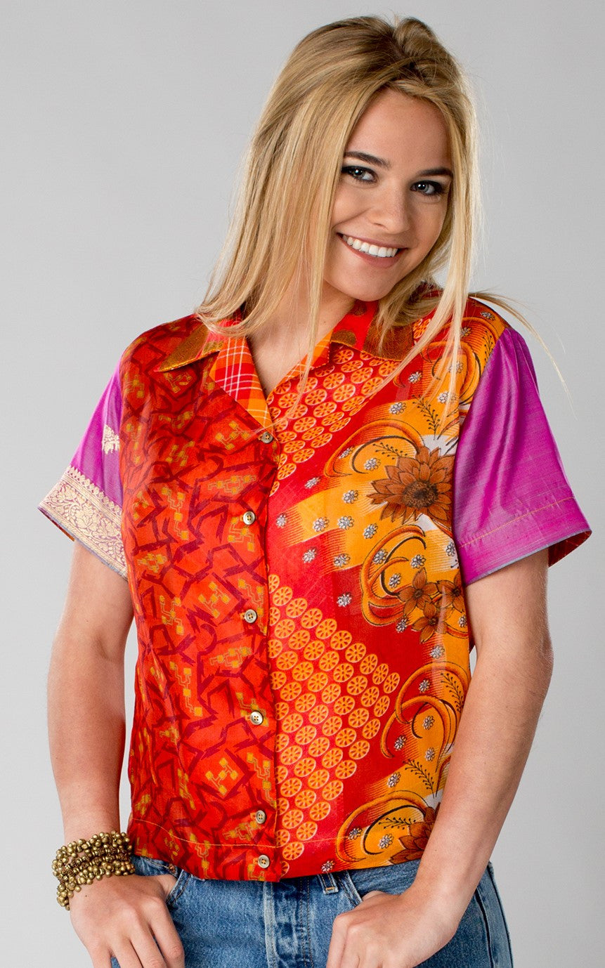 Vintage American Styling Meets Vintage Indian Saris