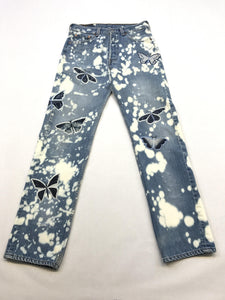 Clouds/Butterfly Jeans