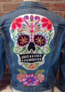 Day of the Dead/Dia de los Muertos Denim Jacket