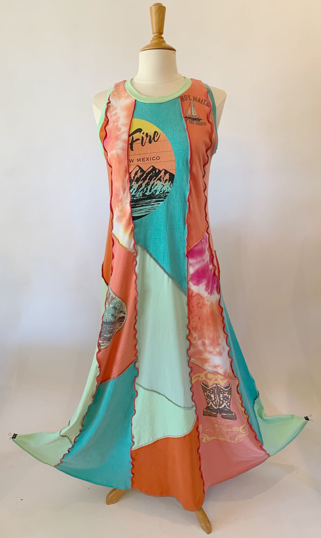 Fire Vacation Maxi Dress