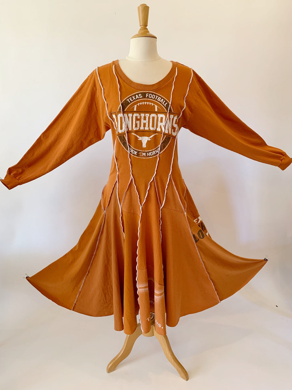 Long Sleeve Longhorns Dress