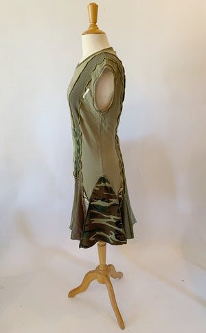 Olive Green Dress Extra Large