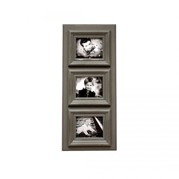 Rusty Colors 5x7, 3 Picture Frame - White