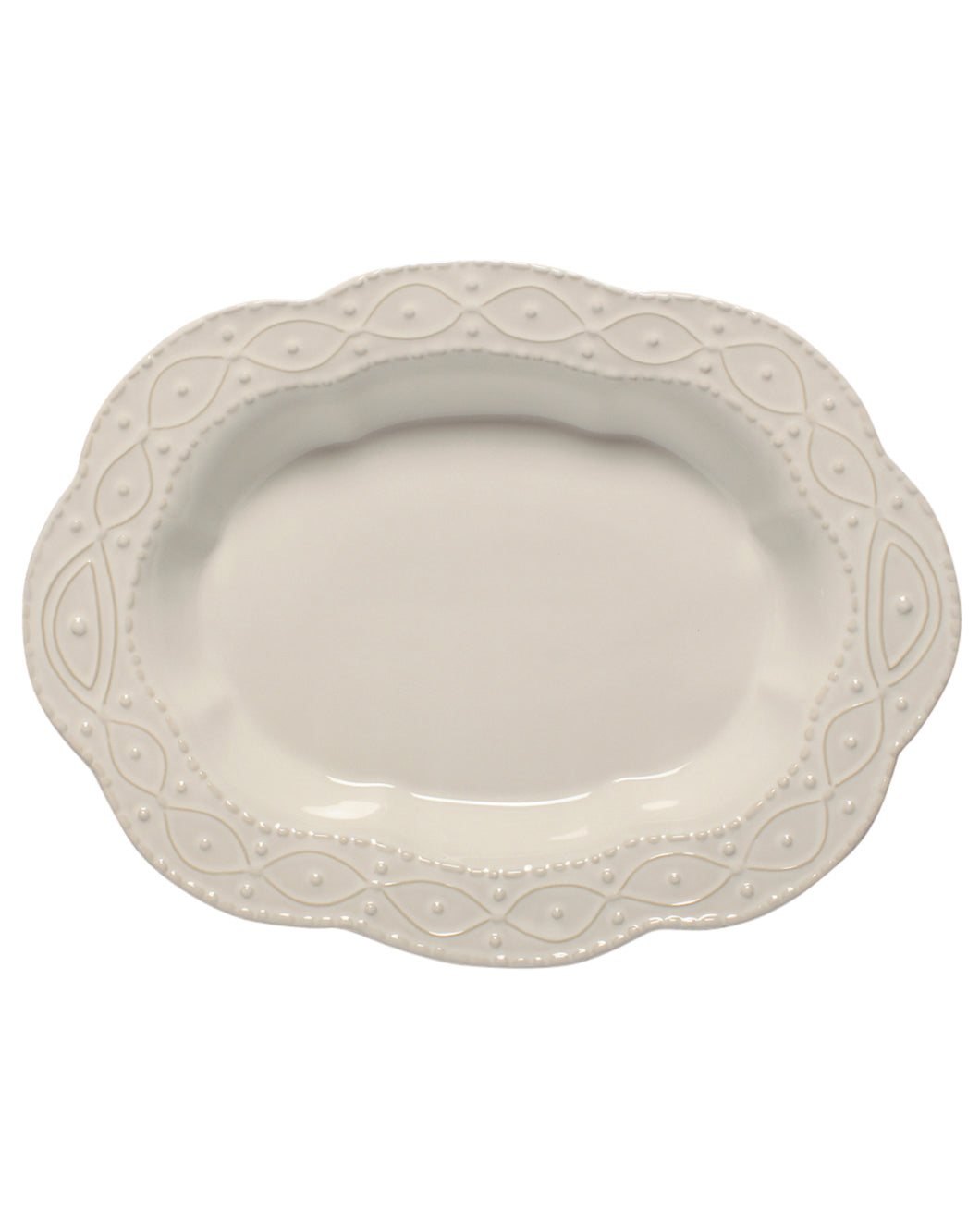 Skyros Legado White Large Oval Serving Bowl