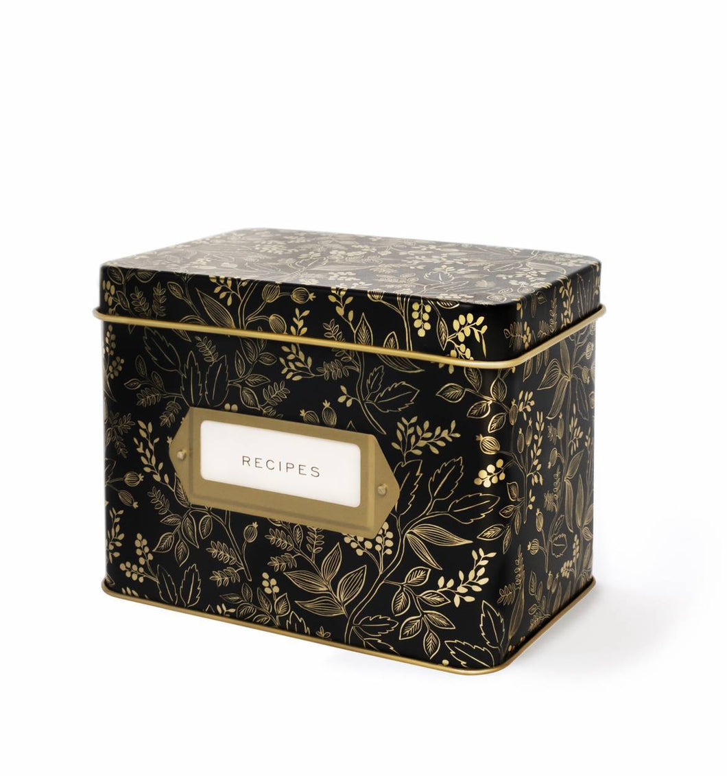 Rifle Paper Company Queen Anne Tin Recipe Box