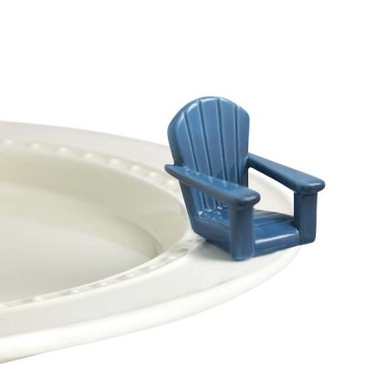 Nora Fleming Blue Lawn Chair Mini - Chillin' Chair