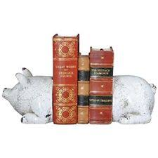 Creative Co-op Pig Book Ends