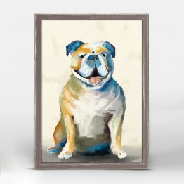Greenbox Bulldog on Cream Wall Art