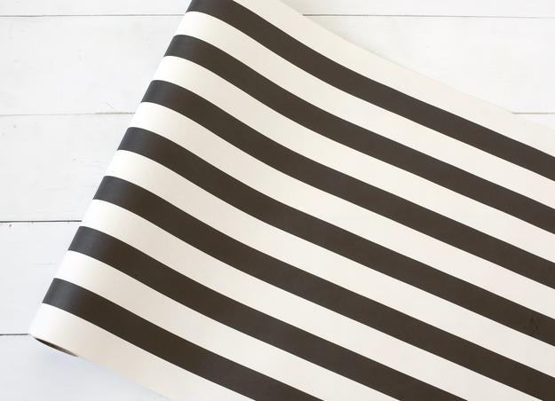 Hester & Cook Black and White Stripe Table Runner