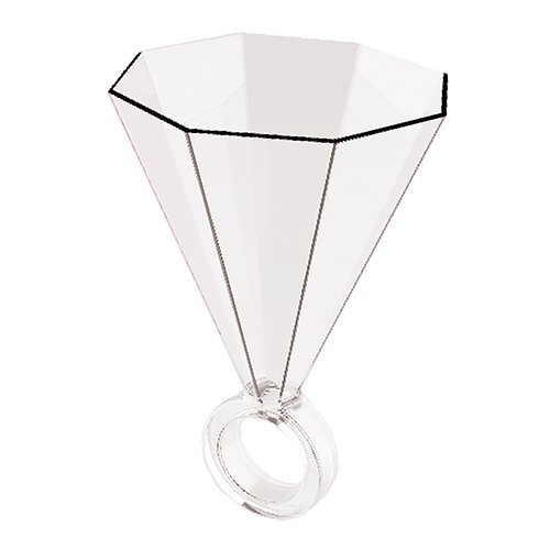 Slant Clear Shot Glass Ring
