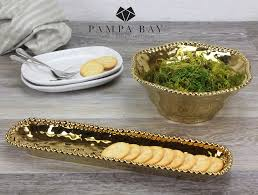 Pampa Bay Gold Snack Bowl