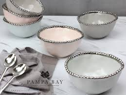 Pampa Bay Grey Mist Snack Bowl