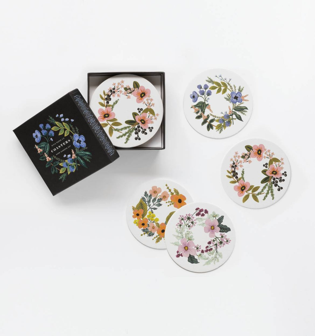 Rifle Paper Company Herb Garden Coaster Set