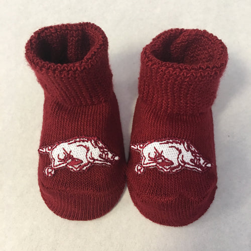Arkansas Razorbacks Boxed Baby Booties