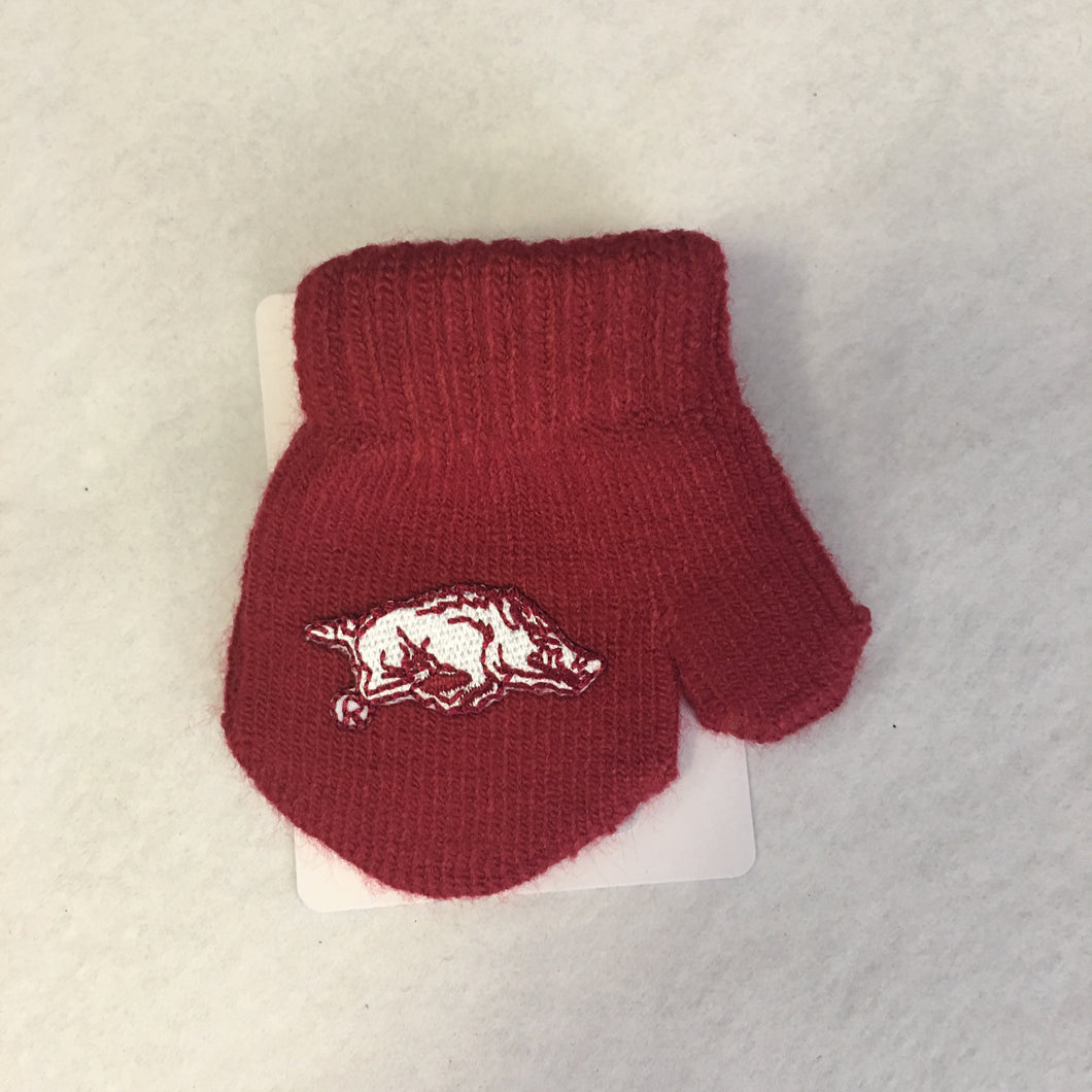 Arkansas Razorback Mittens for Babies