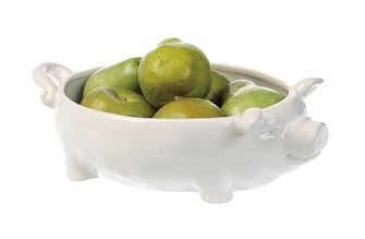 Creative Co-op White Large Pig Bowl