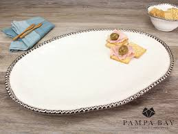 Pampa Bay White Large Oval Platter