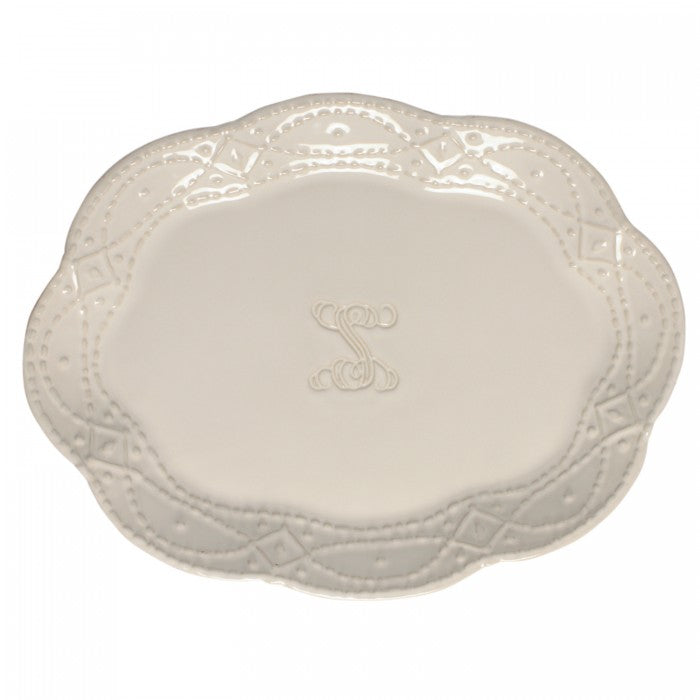 Skyros Legado Pebble Oval Platter with Initial