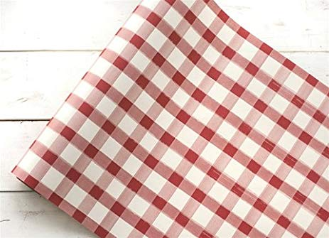 Hester & Cook Red and White Check Table Runner