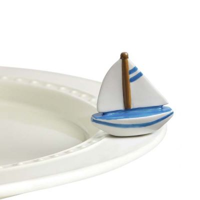 Nora Fleming Sailboat Mini - Sail Me Away