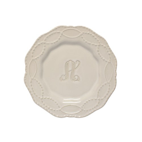 Skyros Legado Pebble Salad Plate with Initial